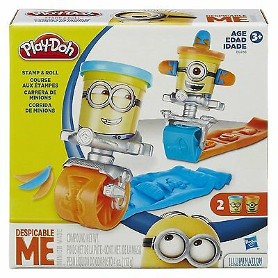New Hasbro Play-Doh Despicable Me Minions Stamp And Roll 2 Cans B0788