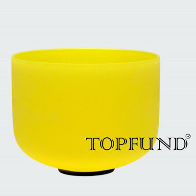 Yellow E Solar Plexus Chakra Frosted Cystal Singing Bowl 10''