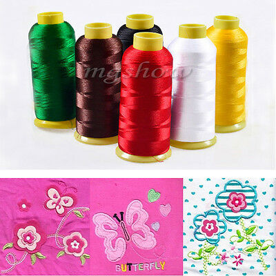 5000M Cones Bobbin Embroidery Quilting For Sewing Machine Polyester Thread Line