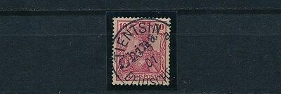 DP China 10 Pfg. Germania Handstempel 1900 Michel 10 Attest (S11205)