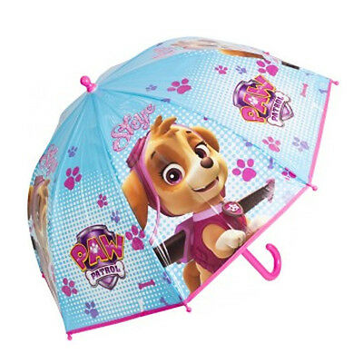 Official Paw Patrol Girls Pink Umbrella Kids School Bubble Brolly Gift Dome New