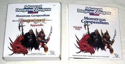 MC4 MONSTROUS COMPENDIUM IN BOX VOLUME TWO DRAGONLANCE EXC+! Monster Manual D&D