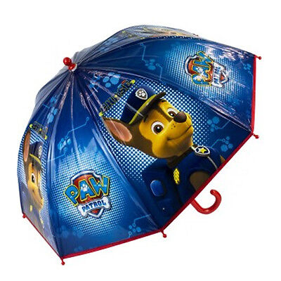 Official Paw Patrol Boys Blue Umbrella Kids School Bubble Brolly Gift Dome New