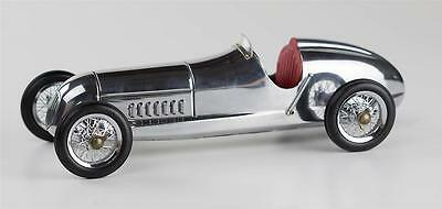 "Tether Car 1934 Mercedes Benz Silberpfeil Silver Arrow 12"" with Red Seat"