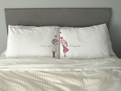 I love you too Pillow Case  Gift Valentine's Day  Wedding Anniversary Couples