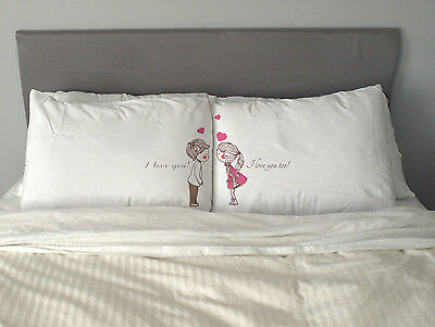 I love you too Pillow Case  Valentine's Day Gift Wedding Anniversary Couples