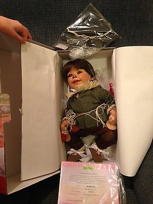 """Weighted 20"""" Adora Wizard Of Oz Scarecrow Baby Doll New In Box Certificate Hat +"""