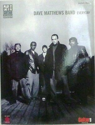 Dave Matthews Band Everyday Sheet Music Song Book