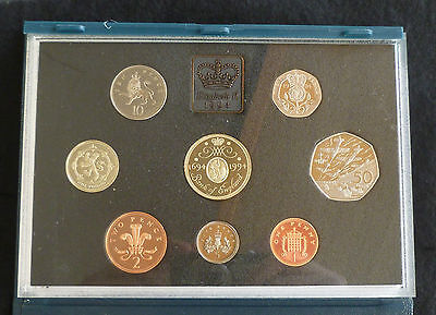 1994 Royal Mint UK Proof 8 Coin Year Set with D-Day50p & BOE £2