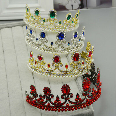 5.5cm High Crystal Wedding Bridal Party Pageant Prom Tiara Crown - 5 Colors