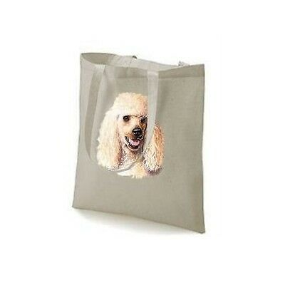 Honey Poodle Face Design Printed Tote Shopping Bag