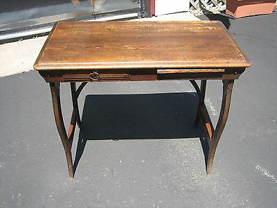 Vintage 1930's Children's Desk with Pull-out table