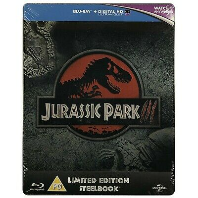 Jurassic Park III (3) Steelbook - UK Exclusive Limited Edition Blu-Ray