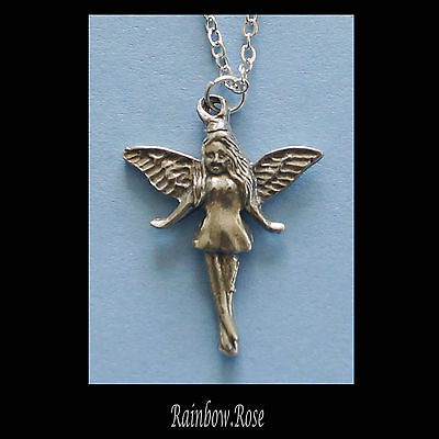 Chain Necklace #247 Pewter Fairy (25mm x 20mm)