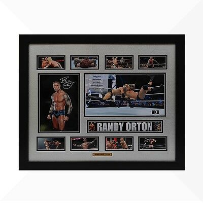 Randy Orton WWE Signed & Framed Memorabilia - Silver/Black Limited Edition