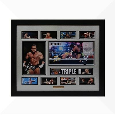 Triple H WWE Signed & Framed Memorabilia - Silver/Black Limited Edition