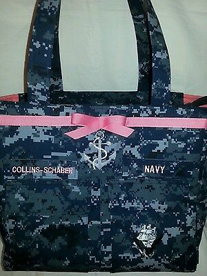Anchor  U.S. Navy handmade  custom diaper bag  embroidery choice colors words