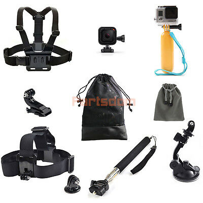 New Head Chest Mount Floating Monopod Pole Accessories For Gopro HERO4 Session