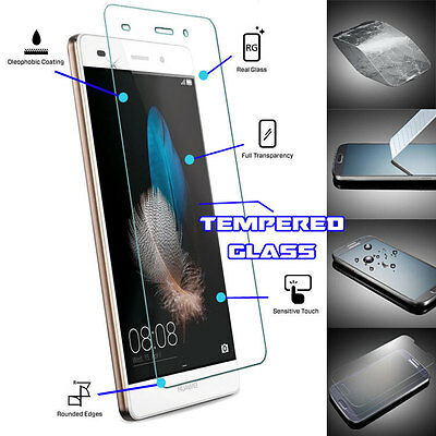 Genuine TEMPERED GLASS Film Invisible Screen Protector For Huawei P8 Lite (2015)