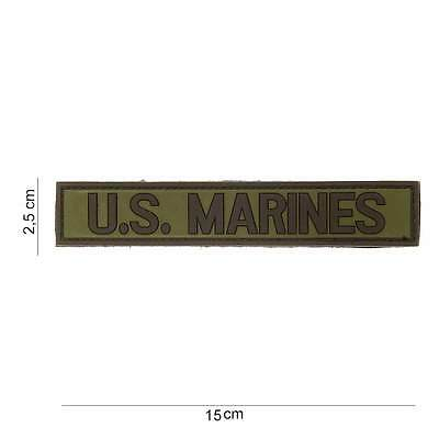 NEW 3D PVC US Marines Tactical Military Army Velcro Morale Patch Green