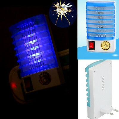 NEW! LED Socket Electric Mosquito Fly Bug Insect Night Lamp Killer Zapper KK EU