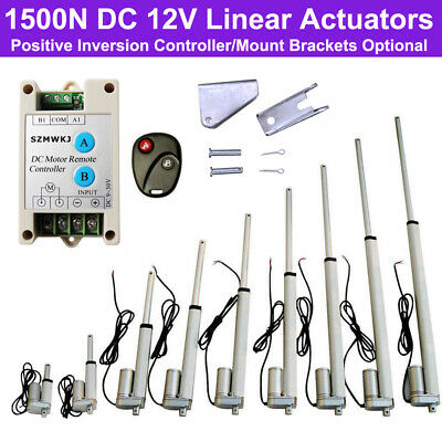 1500N Linear Actuator 50-450mm Stroke Electric Wireless Controller 12V DC Motors