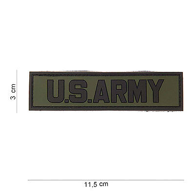 NEW 3D PVC US Army Shoulder Tab Military Tactical Airsoft Velcro Morale Patch