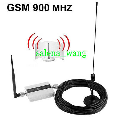 GSM 900Mhz Mobile Cell Phone Signal Booster Amplifier RF Repeater 1set