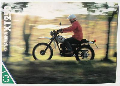 YAMAHA XT250 - Motorcycle Sales Brochure - c1981 - #0107532-81