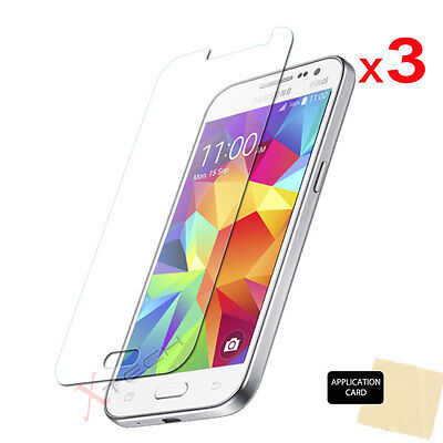 3 Pack CLEAR Screen Protector Cover Guards For Samsung Galaxy Core Prime SM-G360