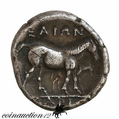 Ancient Greek Larissa Thessaly Silver Drachm 350-325 Bc