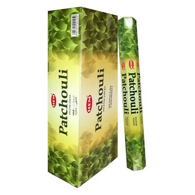 Hem Patchouli Incense 6 Hexagon Packs of 20 = 120 Sticks-1459