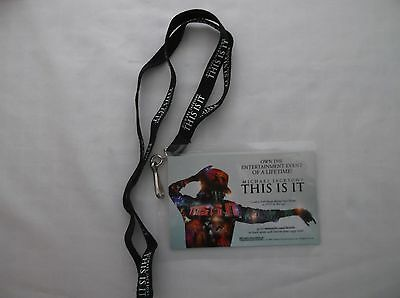 "Michael Jackson ""THIS IS IT"" Backstage Pass and Lanyard"