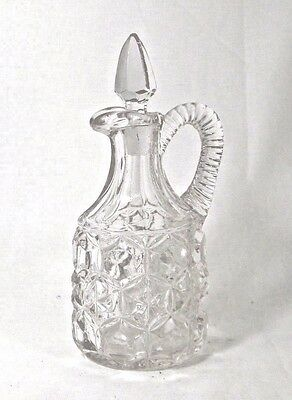 Antique Cruet Pressed Glass Sun Purple EAPG Early American Crystal Oil Vinegar