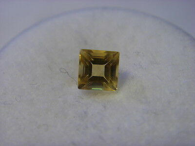 Citrine Princess Cut Gemstone 4 mm x 4 mm 0.35 carat Gem Yellow Stone