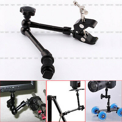 """11"""" Articulating Magic Arm + lager Crab Clamp Plier Clip For Camera Monitor LCD"""