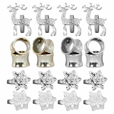 Napkin Rings - Flowers, Reindeer & Ring - Dining Table Decoration