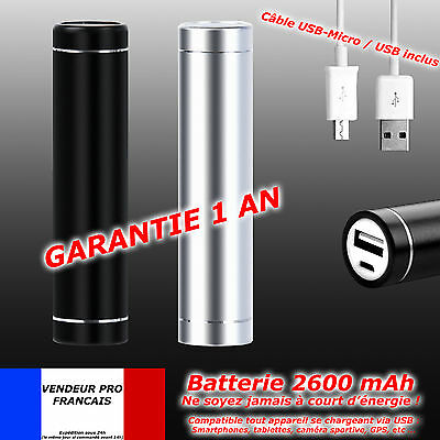 CHARGEUR NOMADE 2600mAh BATTERIE SECOURS EXTERNE Samsung Galaxy Note 4