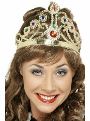 Jewelled Queen's Royal Crown Adult Mens Smiffys Fancy Dress Costume Accessory