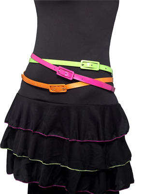 Neon Belts Disco Party Hen Adult Womens Smiffys Fancy Dress Costume Accessory