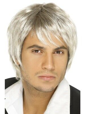 Light Blonde/Brown Boy Band Wig Adult Mens Smiffys Fancy Dress Costume