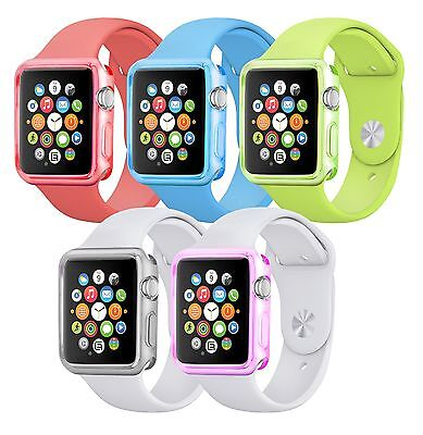 Ultra Strong Rubber TPU Gel Case Cover for Apple Smart Watch iWatch 38mm & 42mm