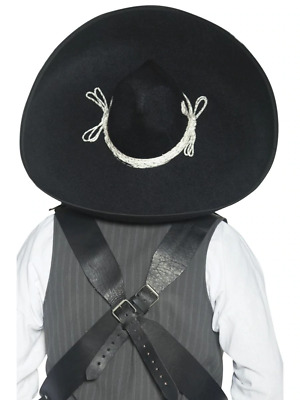 Authentic Mexican Bandit Sombrero Adult Mens Smiffys Fancy Dress Costume Hat