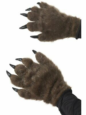 Hairy Monster Hands Adult Mens Smiffys Fancy Dress Gloves