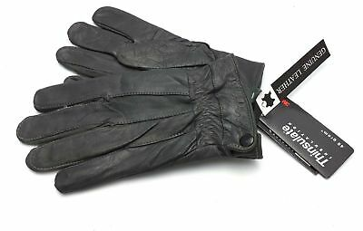 New Ladies Real Leather Gloves Black Fleece Lined Driving Soft Winter
