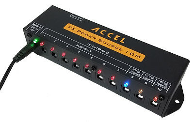 "Accel ""FX Power Source 10M"" Pedal Board Power Supply for Effects Pedals"