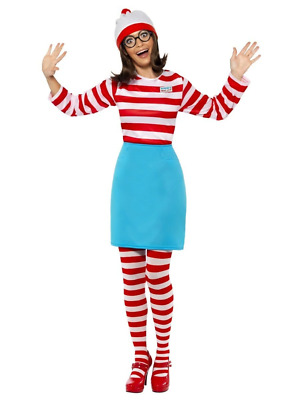 Where's Wally Wenda Costume Womens Ladies Fancy Dress World Book Day Week Outfit