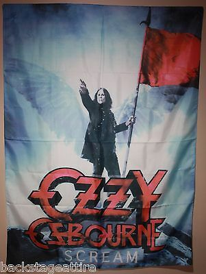 "Ozzy Osbourne Scream Black Sabbath 29""X43"" Cloth Fabric Poster Flag Tapestry-New"