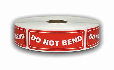 500 Labels 1x3 DO  NOT BEND Handle with Care Mailing Shipping Stickers