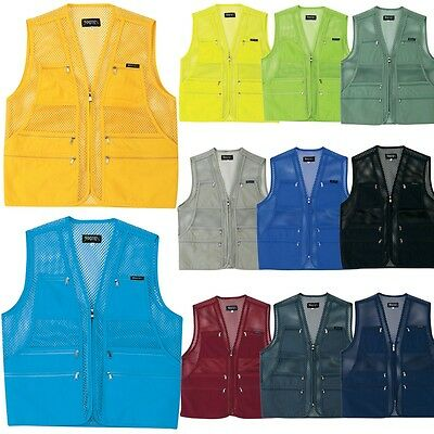 Mens Multi Pockets Fly Fishing Hunting Mesh Vest Mens Travel Outdoor Jacket TopZ